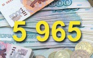 5965 рублей