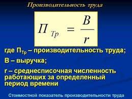 Формула производительности труда