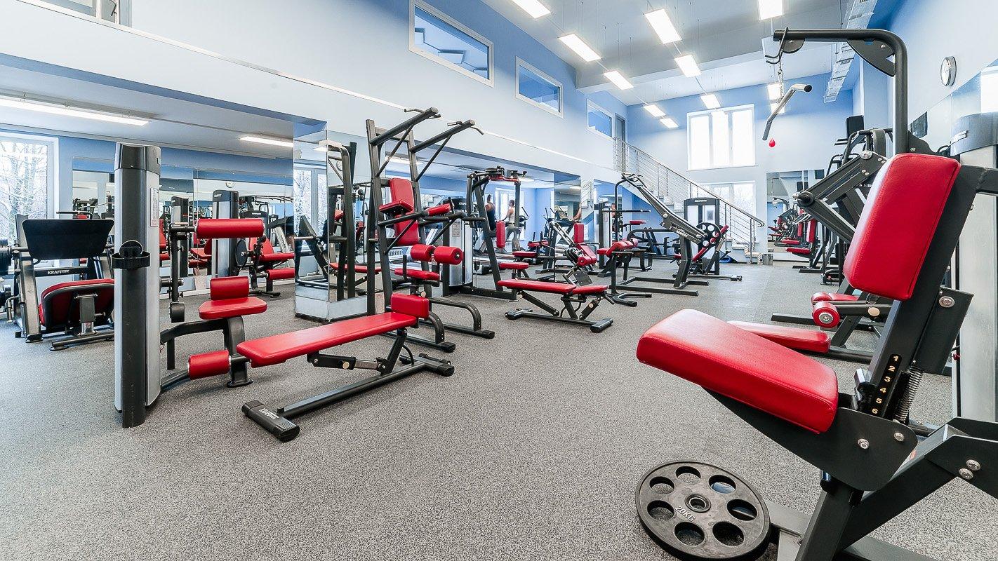 Зал для фитнес клуба